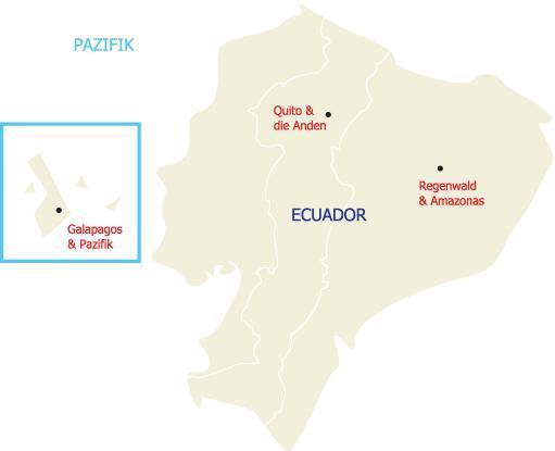 Bereisen Sie die unterschiedlichen Regionen des kleinen Landes Ecuadors