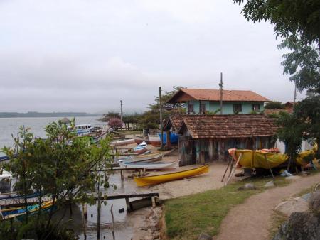 Kleines Dorf Costa da Lagoa
