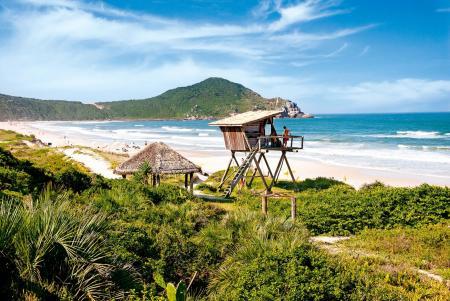 Aussichtsstand an der Praia do Rosa