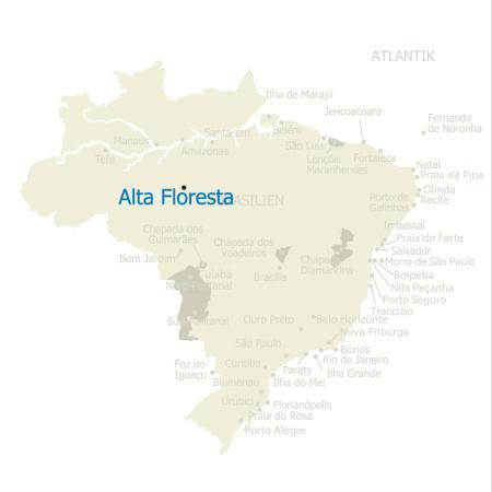 MAP Brasilien Karte Alta Floresta