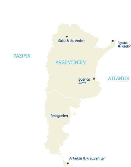 Reisen Sie in das kontrastreiche Land Argentinien und entdecken Sie die Regionen