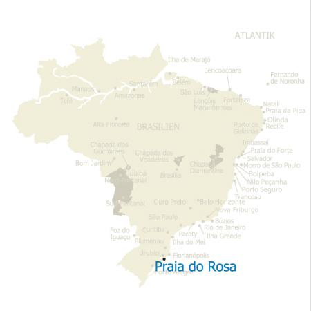 MAP Brasilien Karte Praia do Rosa