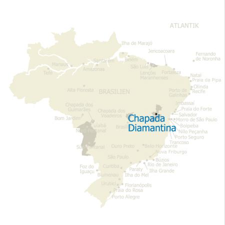 MAP Brasilien Karte Chapada Diamantina