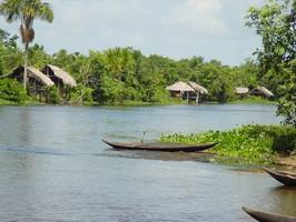 Orinoco Delta Fluss Hütten