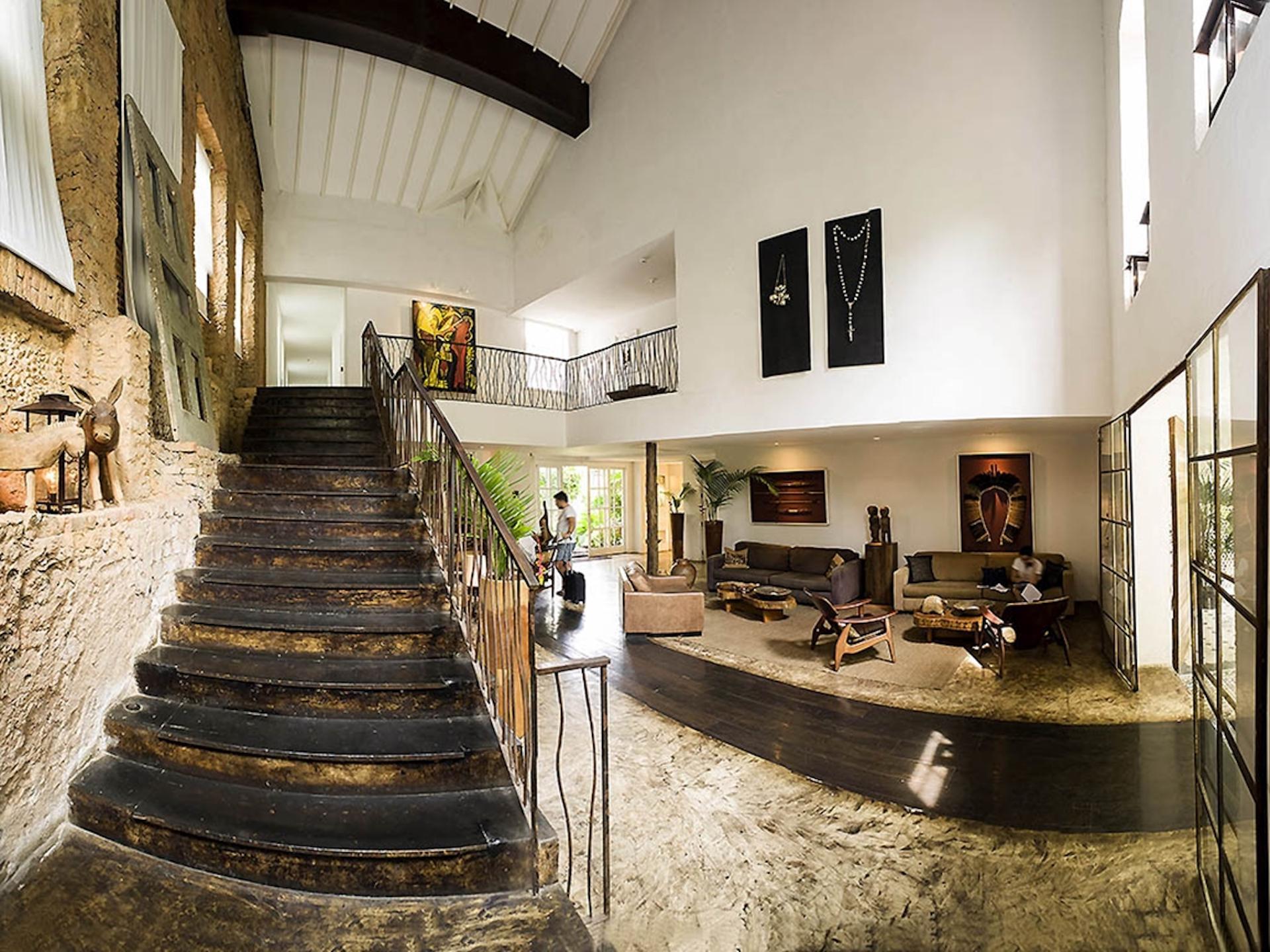 Lobby des Hotel Santa Teresa in Rio de Janeiro, Brasilien