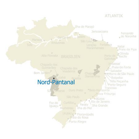MAP Brasilien Karte Nord-Pantanal