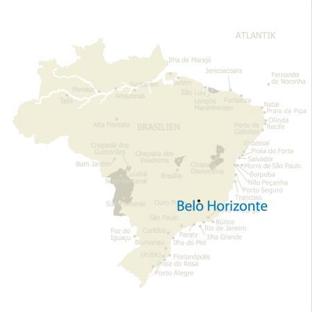 MAP Brasilien Karte Belo Horizonte