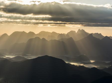 Grandiose Aussicht auf das Orgelgebirge in Nova Friburgo