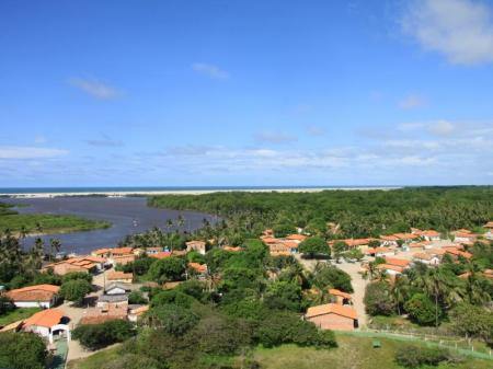Rio Preguicas bei Cabure vor der Mündung ins Meer