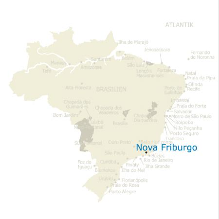 MAP Brasilien Karte Nova Friburgo