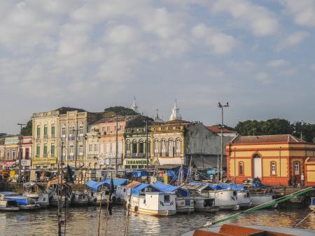 Die schöne Altstadt von Belem mit ihren historischen Bauten