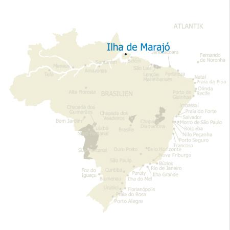 Map Ilha de Marajo