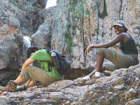 Gäste auf einer Pause während der Wanderung durch die Chapada Diamantina