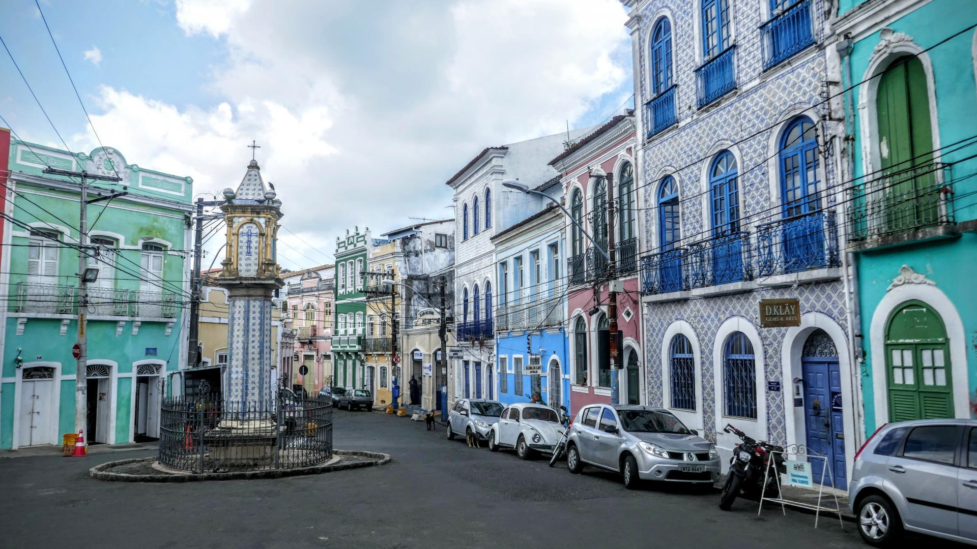 Tagestour Salvador City-Tour + Walking-Tour (7-8h, privat): Häuser im Pelourinho