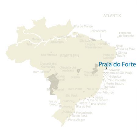 MAP Brasilien Karte Praia do Forte