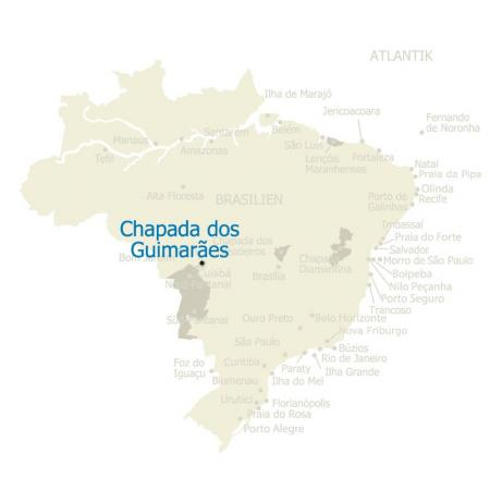 MAP Brasilien Chapada dos Guimareas