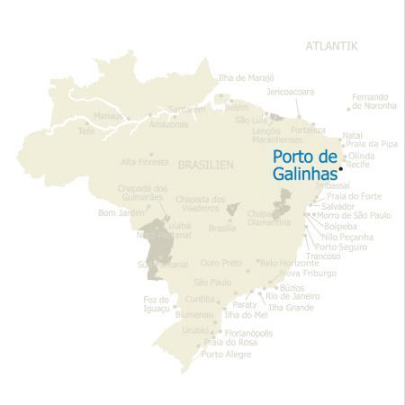 MAP Brasilien Karte Porto de Galinhas