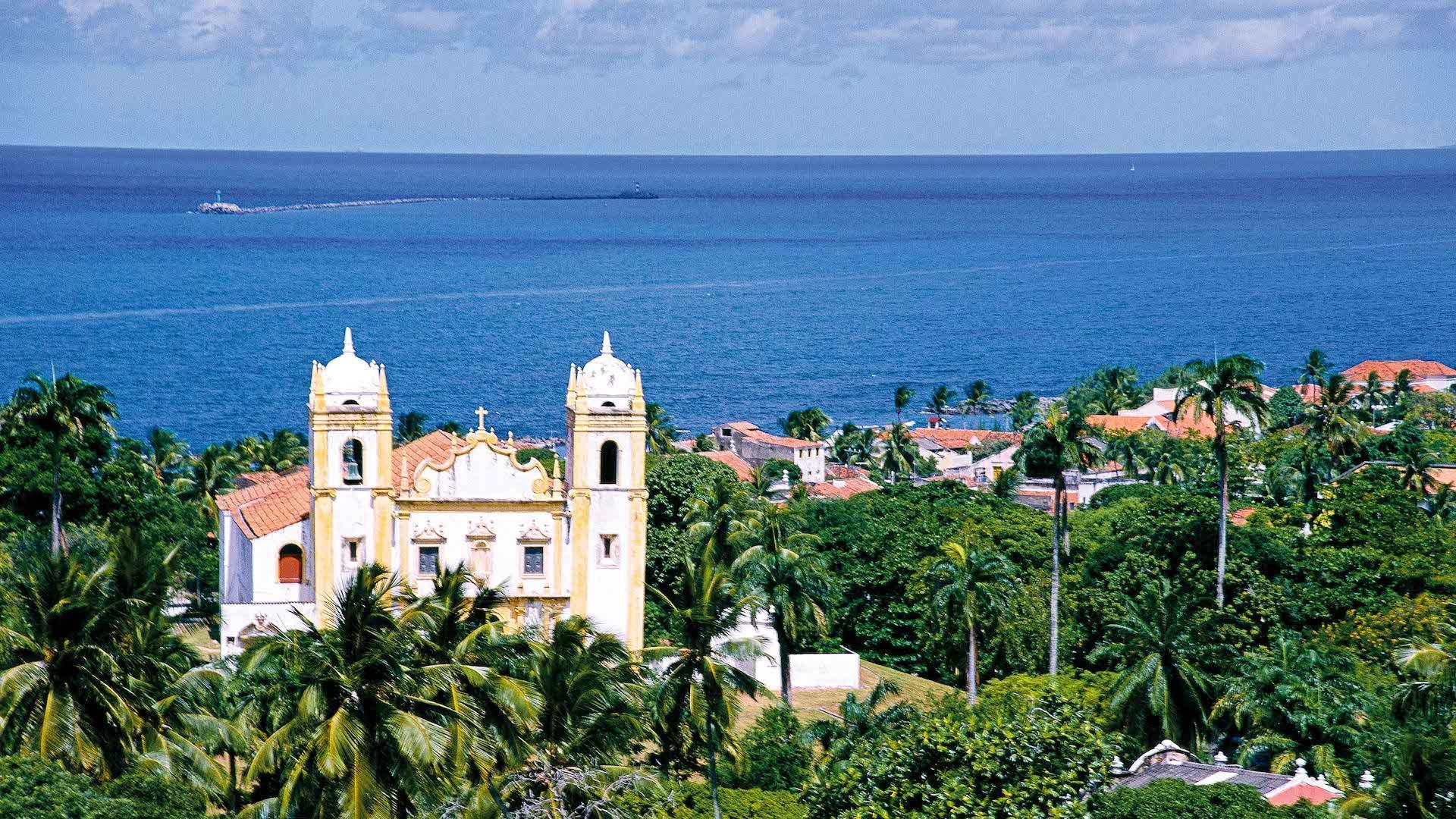 Historische Kirche am Meer in Olinda nahe Recife