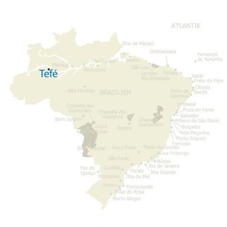 MAP Brasilien Karte Tefe