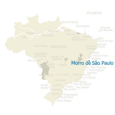 MAP Brasilien Karte Morro de Sao Paulo