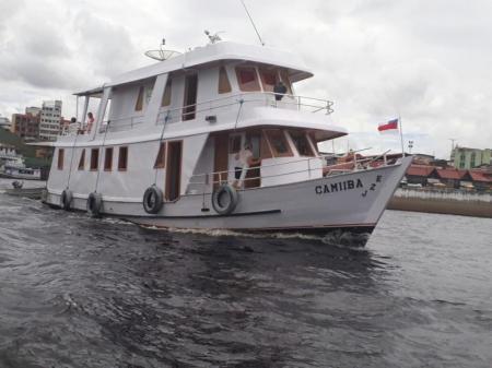 Die Camiiba, ein typesches Amazonas-Schiff