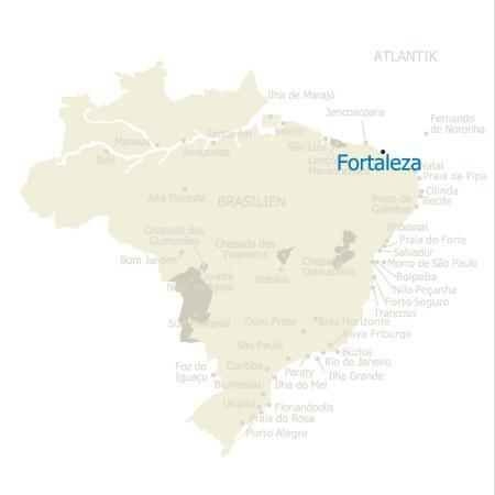 MAP Brasilien Karte Fortaleza
