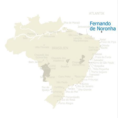 Map Fernando de Noronha
