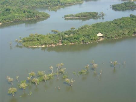 Juma Amazon Lodge aus der Luft