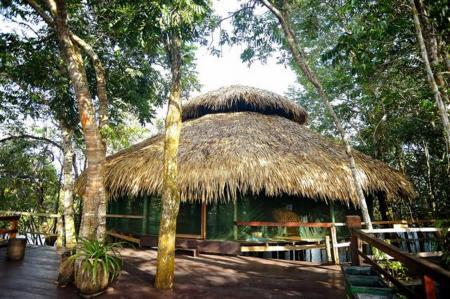 Juma Amazon Lodge gedeckte Hütte