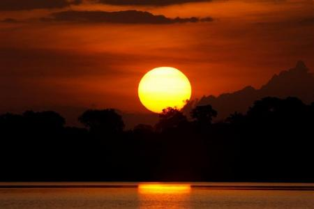 Sonnenuntergang Juma Amazon Lodge