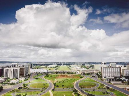 Blick auf das Baukonzept von Brasilia