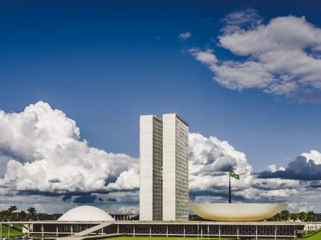 Das Gebäude des Nationalkongress in Brasilia