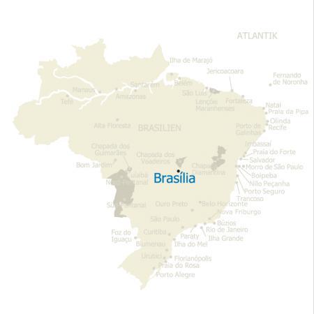 Map Brasilia