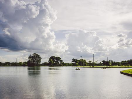 See im Nationalpark von Brasilia
