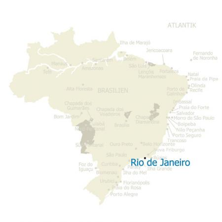 MAP Rio de Janeiro Brasilien