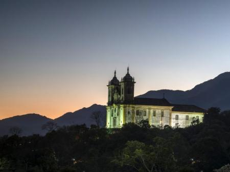 Ouro Preto: Kirche im Sonnenuntergang