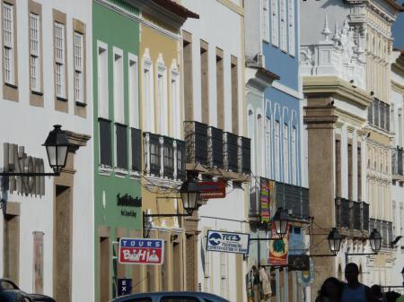 Bunte Häuserfassaden in Salvador da Bahia