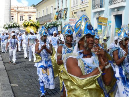 Karnevalsumzug Filhos de Gandhi in Salvador