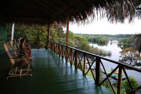 Ausblick aus der Tupana Lodge Amazonas