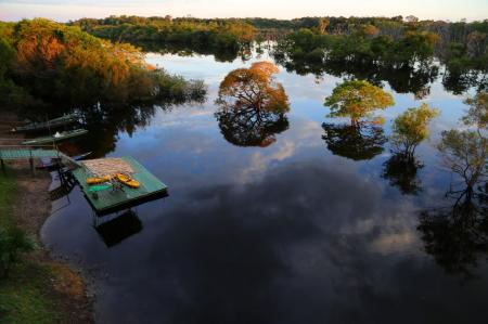 Tupana Lodge Amazonas aus der Luft