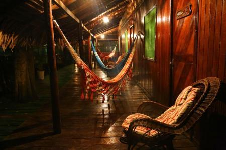 Hängematten der Tupana Lodge Amazonas