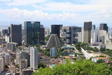Rio de Janeiro Blick auf Kathedrale und Stadt