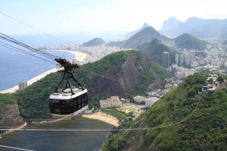 Gondel zum Zuckerhut von Rio de Janeiro