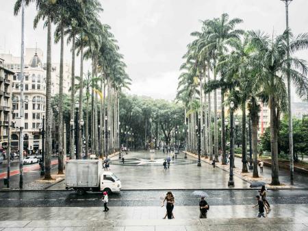 Das Zentrum der Metropole Sao Paulo
