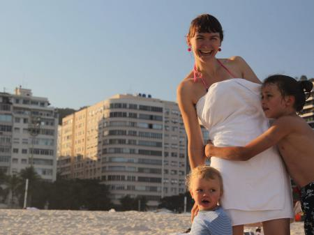 Strand-Freizeit an der Copacabana in Rio de Janeiro