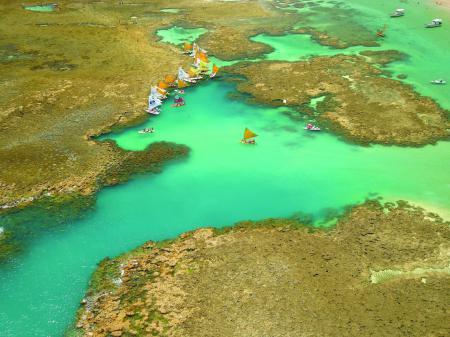 Luftaufnahme von Porto de Galinhas
