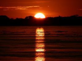 Peru Corto Maltes Amazonia Lodge Sonnenuntergang