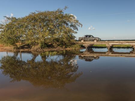 Brücke auf der Transpantaneira im Naturparadies Pantanal
