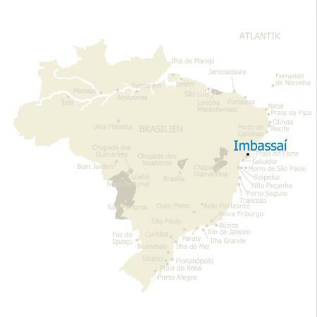 MAP Brasilien Karte Imbassai