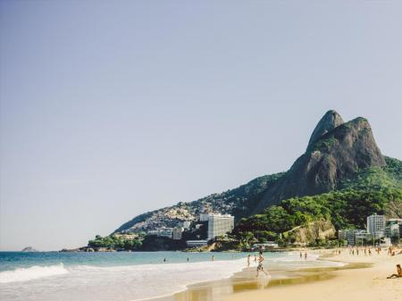 Strandszene in Ipanema